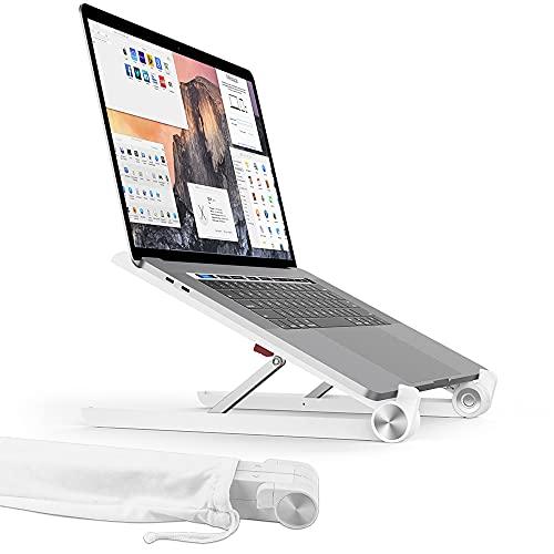 TATE GUARD Laptop Ständer, Multi-Winkel verstellbar, Höhe einstellbar, Klappbar Stand, für 10 bis 17.3 Zoll Kompatibel mit m\'acbook/Tablet/Tab Laptop PC, 2017 Microsoft Surface Pro,Weiß