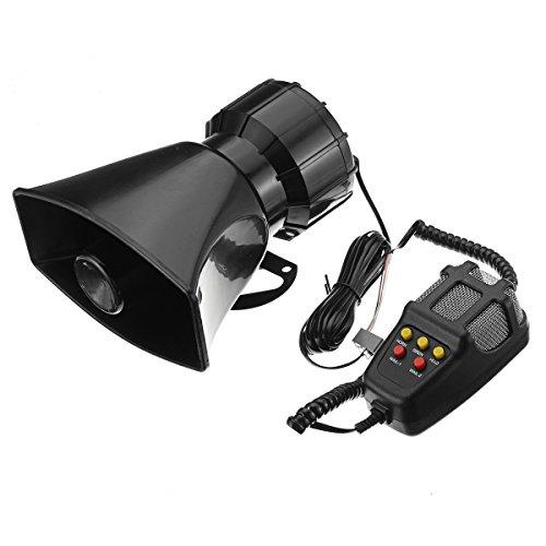 YONGYAO 100W Alarma de Advertencia de Coche Altavoz PA de Sirena de Bocina de Fuego de Policía de 5 Sonidos Fuertes con Micrófono