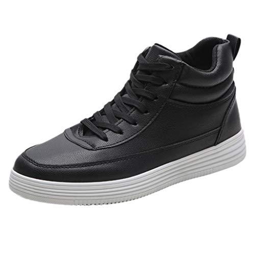 Homme Chaussure de Sport Baskets Haute,Overmal Multi-Sports Outdoor Chaussures Plates Garçon Mode Casual Light Comfortable Antidérapant Running Shoe Sneakers