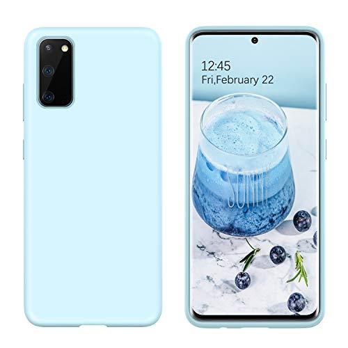 BENTOBEN Samsung Galaxy S20 Hülle Silikon Case, Samsung Galaxy S20 5G Handyhülle Slim Kratzfest Weiche Flüssigsilikon Gummi mit innem Soft Microfaser Tuch Futter Samsung Galaxy S20 5G (6.2'') Blau