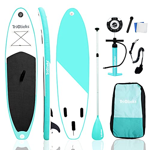 Yohoz 10ft / 3m Inflatable Stand Up Paddle Board Inflatable Sup Board Surfboard with Premium SUP Accessories & Backpack, Non-Slip Deck, Leash, Fin, Paddle and Hand Pump