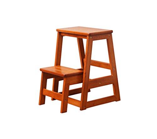 Goquik Kruk, massief houten trap, kinderstoel, multifunctionele creatieve opvouwbare keukenstoel,