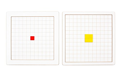 SINA Raster-Tablett Groß 250mm Zum Bauen , Legen mit Fröbel-Gaben und Fröbel-Legetäfelchen NEU