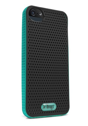 iFrogz Breeze Case for iPhone 5 - Retail Packaging - Black/Teal