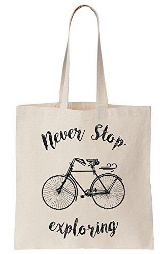 graphke Never Stop Exploring Bike Cycling Hipster Unisex Crew Neck Sweatshirt