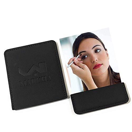 Markha Compact Mirror, Personal Mirrors for Purse, Pocket Mirror for Women/Men, Small Mirror, Travel Mirror (Black)