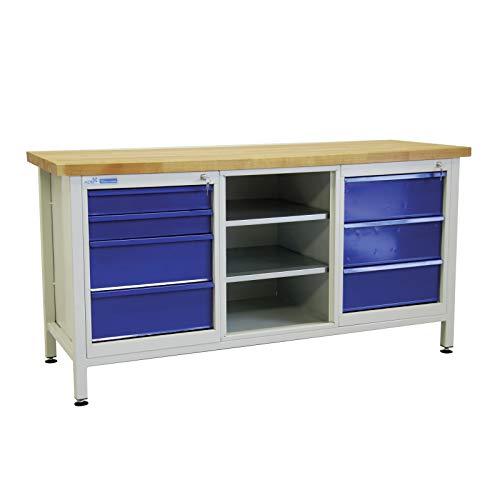 ADB Werkbank Werktisch Werkstatt Arbeitstisch Werkzeugtisch mit 7 Schubladen Werkstatteinrichtung...