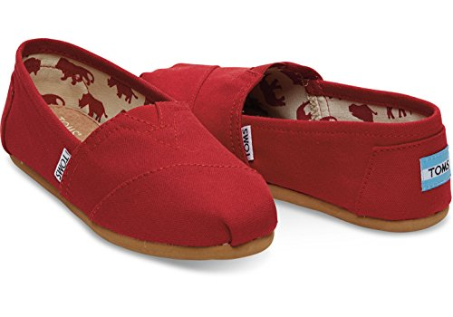 TOMS Kids Baby Girl's Alpargata (Infant/Toddler/Little Kid) Drizzle Grey Multi Glimmer Woven/Bow 11 Little Kid M