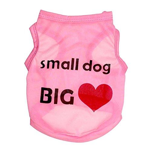 feiling Dog T-shirt Hundmantel Sommer Pullover für welpen Kleine Hunde Hemd Haustier Kleidung Bequeme Hundekostüm Herbst Vest Bluse Poodle Teddy Chihuahua (XS, pink)