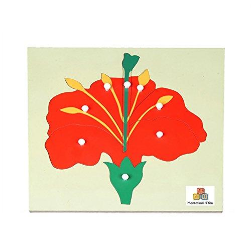 Material Montessori Puzzle Flor