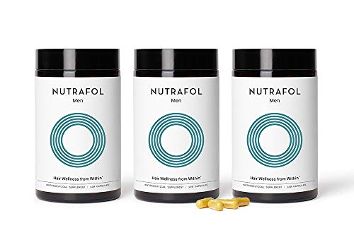 Nutrafol Mens Hair Growth Supplement for Thicker, Stronger Hair (4 Capsules Per Day - 3 Bottles - 3 Month Supply)