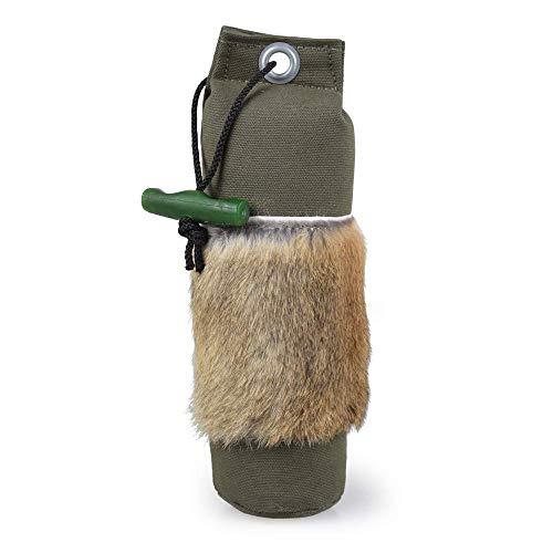 Firedog Dummy mit echtem Kaninchenfell   Robustes Apportel   Wild-Dummy für das Hundetraining/Jagdtraining   Verschiedene Gewichte (500g)