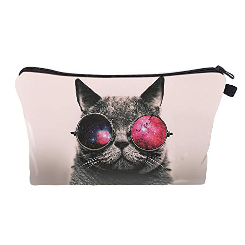 Sacs à cosmétiques imprimés à glissière pour Femmes Make Up Travel Storage Fashion Cute-Cat_22 * 18 * 13.5cm