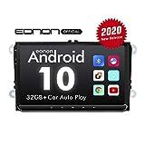 eonon GA9453B 9' Android 10 Autoradio 32GB ROM DSP GPS Nav Sat for Volkswagen/SEAT/Skoda Compatibile con supporto sistema parafango Carplay/Bluetooth/WiFi/Fast Boot (NO DVD)