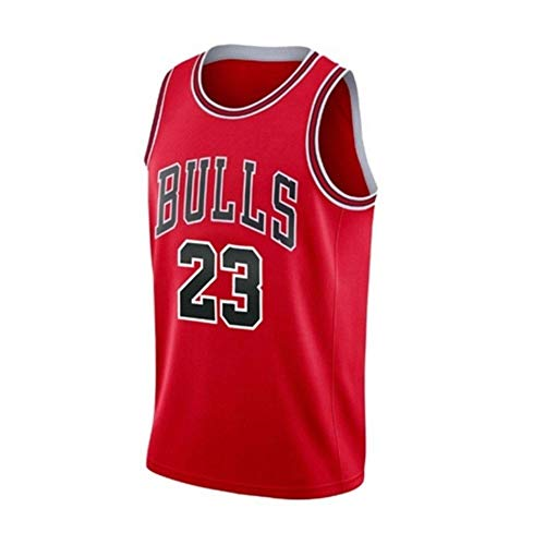Michael Jordan # 23 Los Toros de Chicago Camiseta de Baloncesto, Jerseys para Hombres Retro Chaleco (Color : Red, Size : M)