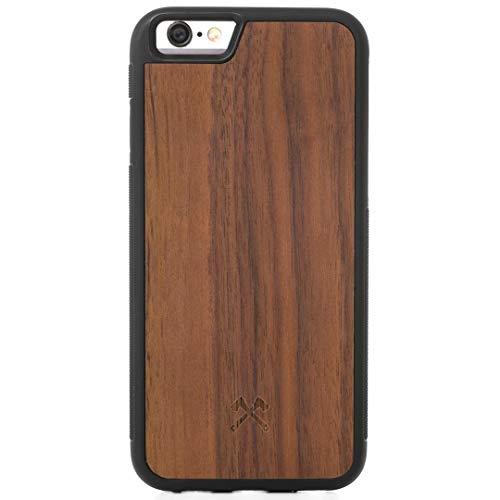 Woodcessories - Hülle kompatibel mit iPhone 6 Plus /6s Plus aus Holz - EcoBump Case (Walnuss)