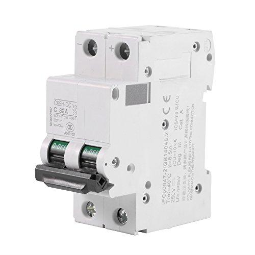 2-poliger Leitungsschutzschalter, DC Circuit Breaker, weit verbreitet für Solarpaneele, Gittersystem, Wind- und Solar-Hybrid-System