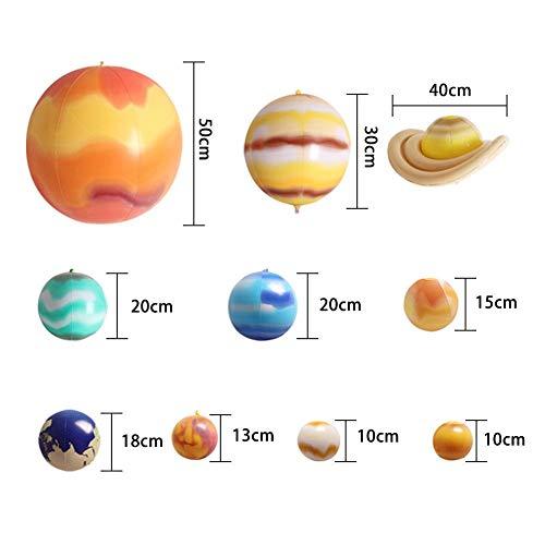 Das Sonnensystem Bläst Neun Planeten Auf, Die Modellballons Unterrichten, Simuliert Planetare Ballonspielzeuge, Einkaufszentren Und Aufblasbare Bälle, Die Zum Lehren/Dekorieren Usw. Geeignet Sind.