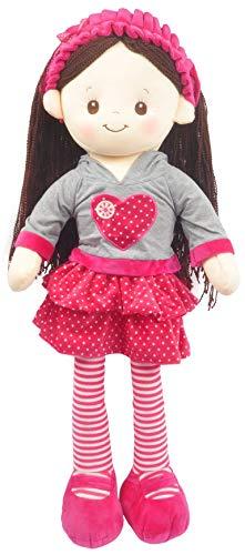 "Linzy Toys, Sofia Doll Rag Plush, Hot Pink, 28"""
