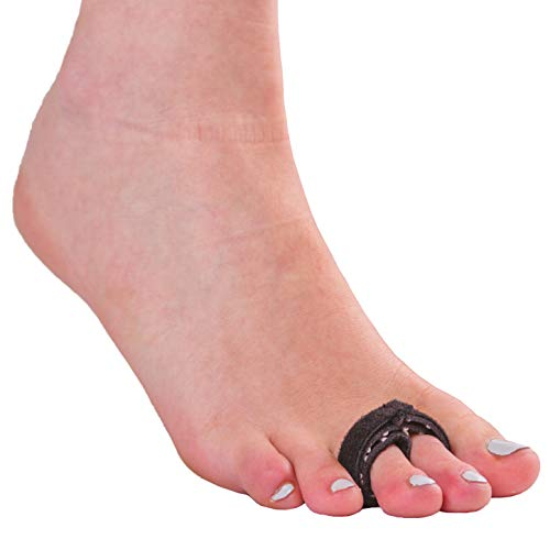 BraceAbility Buddy Tape Toe Splint Wraps   Non-Slip Taping Straps for Treating a Broken Pinky or Big Toe, Jammed, Sprained, Swollen, Dislocated, Fractured, Mallet or Hammer Toe Injury (Pack of 2)