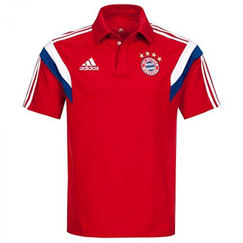 adidas Herren Poloshirt FC Bayern, Fcb True Red/White, S