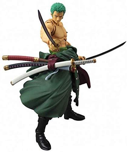 WIJJZY Aoemone One Piece Roronoa Zoro Figuras de acción con Accesorios Movables Juntas Anime Figuras Estatua Modelo Cumpleaños Regalo Estatua Colección Decoración