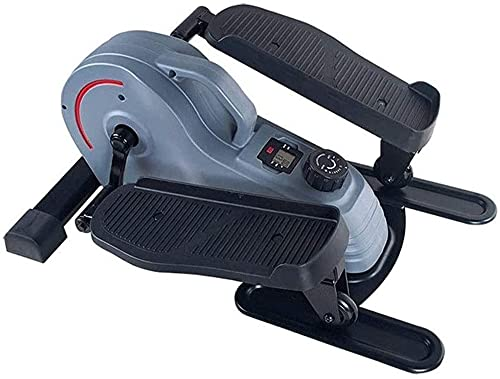 Mini Stepper Fitness El entrenador elíptico tiene una pantalla integrada, silenciosa, compacta, resistencia ajustable, ejercicio en casa sin montaje