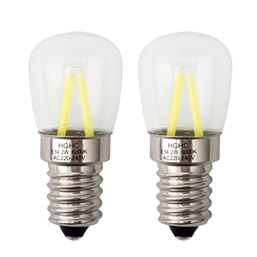 LED Kühlschrankbirne E14, AC 220-240V, 2W (25W Halogen Birne gleichwertig) kühlen weißen 6000K (2er Pack)