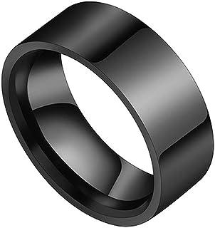خاتم رجالي من التيتنيوم باللون الاسود مقاس 12