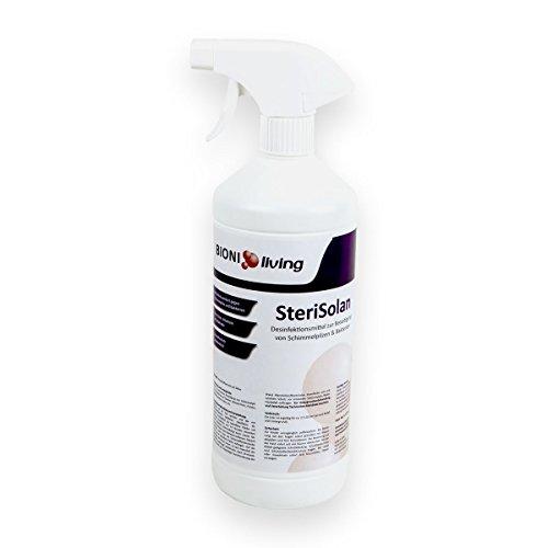 SteriSolan Desinfektionsspray und Schimmel-Stopp 1L Flasche, Chlorfreies Schimmelspray zur Beseitigung von Schimmelpilzen, Bakterien und Viren