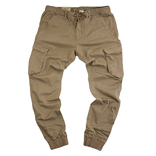 Reell Jeans Herren Reflex Rib Cargo Pant Hose Dark Sand Long, Größe L