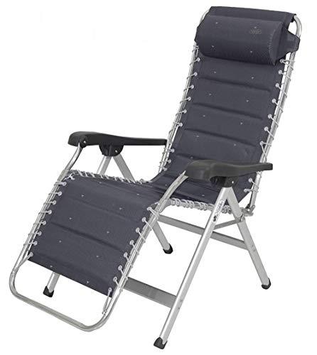 STABIELO Relax Crespo - Tumbona de relax (acolchada, altura regulable, con reposacabezas de altura regulable), color gris antracita