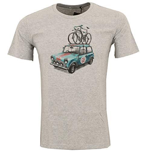 Greenbomb Männer Fahrrad T-Shirt Bike Rallye grau meliert - S