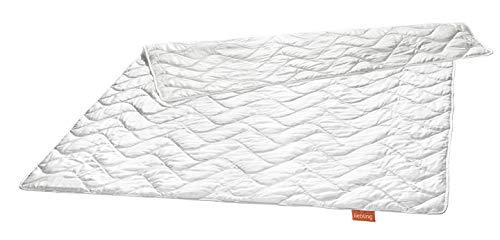 liebling Wildseidendecke Seiden-Leichtsteppbett aus 100% natürlicher Wildseide, Füllgewicht: 700 gr, 155 x 220 cm, weiß