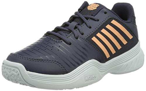 K-Swiss Performance Court Express Omni Tennisschuh, Graystone/Peach Nectar/White, 35.5 EU