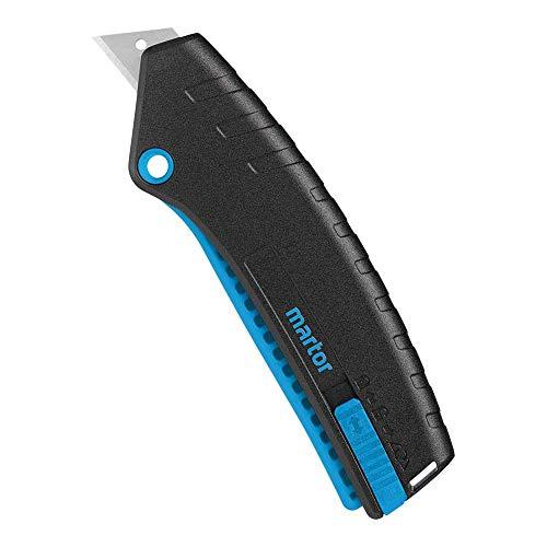 Martor 125001.02 Sicherheitsmesser Secupro Mizar, Grau/Stahlblau