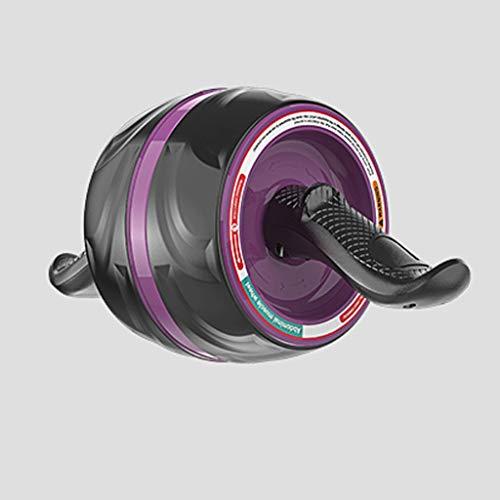 Ab Roller Abdomen Wheel Rebote automático para principiantes abdominales, músculos abdominales de mujeres, equipo de fitness profesional para hombres (color morado)