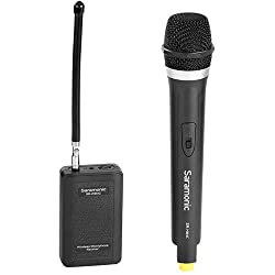 top 10 wireless microphones camcorders Salamonic WM4CA Professional Portable Wireless VHF Handheld Microphone System (for DSLR)…