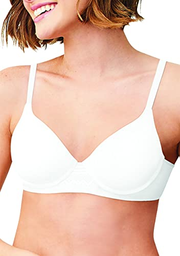 Hanes Women's Hanes Ultimate T-shirt Natural Lift Foam Wire-free Bra, -white, MEDIUM