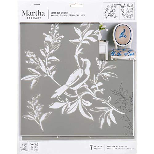 Martha Stewart Crafts Laser-Cut Stencil, 8.75' x 9.75', 2 Sheets, Chinoiserie