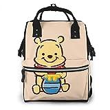 HDGLL Wickeltasche – niedliche Winnie Pooh Wickeltasche, multifunktional, große Kapazität, Reiserucksack
