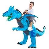 Inflatable Dragon Costume Adult Men Women, Inflatable Blow Up Costume Riding Dragon Costume Youth, Inflatable Ride On Dragon Halloween Costume Teen