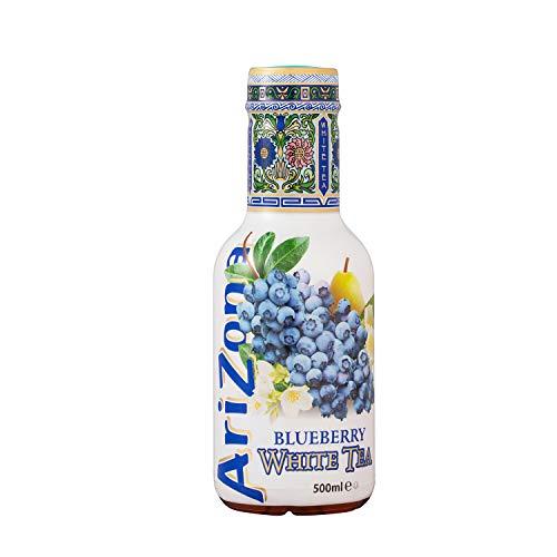AriZona - Thé Blanc aux Myrtilles - Boisson 100% Plaisir - Emballage Design - 6 Bouteilles PET 500 ml