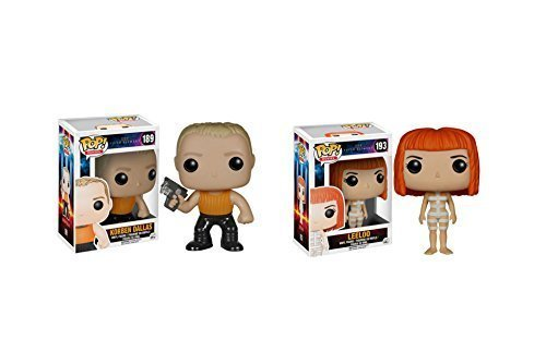 Funko Pop The Fifth Element Movie: Korben Dallas and Leeloo - 2 Piece Bundle by