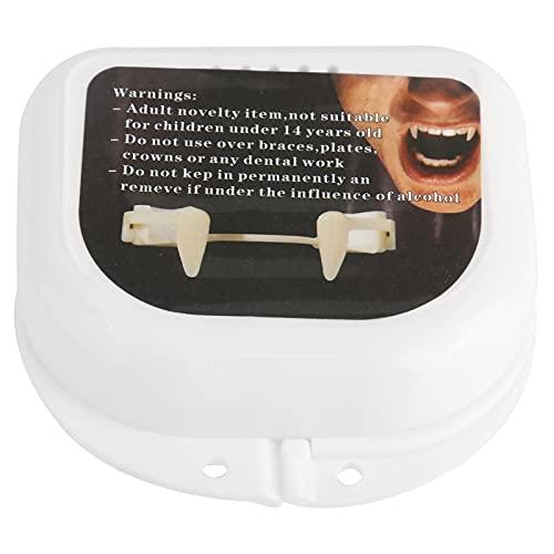 Gatuxe Colmillos, Dientes De Halloween Reutilizables Plástico Silicona Seguro Fácil De Usar para Juegos De rol En Fiestas(Diente de Vampiro X2479)