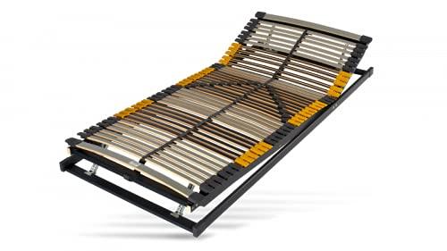 Hilding Sweden Lattenrost, 80 x 190 cm, mit 44 Latten aus Holz (Kopfteil und Fußteil verstellbar), Fertig montiert, Geeignet für alle Matratzen, Härtegrad 9-fach justierbar