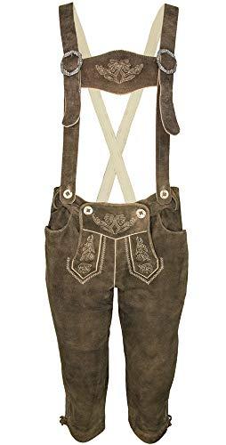 Lekra dames knieband leren broek Roswitha met bandjes - bruin -% sale% maat 38 40