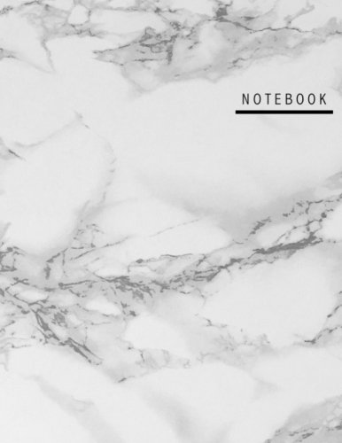 Lila Unruled Blank Notebook, 100 pages, Marble, Large (8.5 x 11 inches)