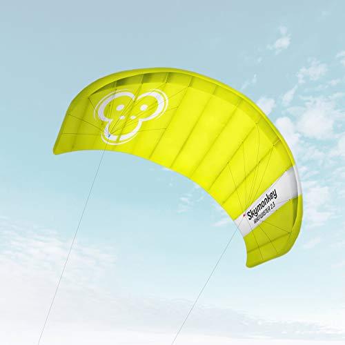 Skymonkey, power kite con tiranti da polso, apertura alare di 130 cm, 180 cm, 230 cm, pronto per il volo