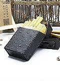 XIAOXIA DIY Cuchillo Personalizado COMPAÑO Hecho A Mano Cuero Simple Patrón De Cuero Caja De Cuero Caja De Cuero Caja Fuerte Paquete Completo En 20 Palitos